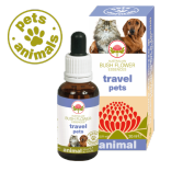 TRAVEL PETS Gocce 30 ml | Fiori Australiani per Disagio e Paura di viaggiare | AUSTRALIAN BUSH FLOWER Essences - Animal