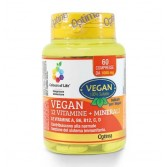 VEGAN 60 Compresse | Integratore Multivitaminico e Multiminerali | OPTIMA NATURALS - Colours of Life