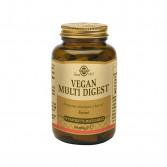 Vegan Multi Digest 50 tav | Integratore a base di enzimi digestivi| SOLGAR