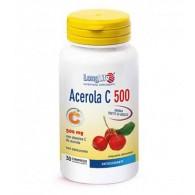 ACEROLA 500 Integratore di vitamina C con bioflavonoidi 30 tav | LONGLIFE