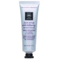 FACE SCRUB a base di mirtillo 50 ML | Scrub viso illuminante per pelle opaca | APIVITA