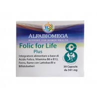 FOLIC FOR LIFE Acido folico metilato 30 CPS | ALFABIOMEGA