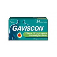 GAVISCON  | 24 Compresse alla Menta 250 mg + 133,5 mg