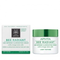 LIGHT TEXTURE CREAM 50 ML | Crema antiage illuminante leggera | APIVITA - Bee Radiant