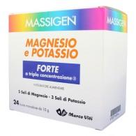 MAGNESIO E POTASSIO FORTE per stanchezza 24 buste | MASSIGEN