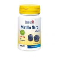 MIRTILLO NERO Integratore con mirtillo nero, tit. al 25% in antocianidine 60 cps | LONGLIFE