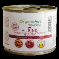 MIT RIND Cibo umido manzo con pasta per GATTI 200 g | ORGANIC VET - Sensitive