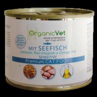 MIT SEEFISH Cibo umido pesce di mare e riso per GATTI | ORGANIC VET - Sensitive