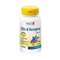 OLIO DI BORRAGINE 1300 mg Integratore di Acidi Grassi Omega-6 50 prl   LONGLIFE
