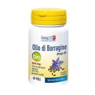 OLIO DI BORRAGINE 500 mg Integratore di acidi grassi omega-6 60 PERLE   LONGLIFE