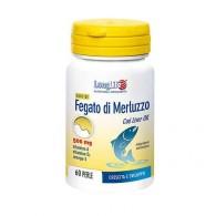 OLIO DI FEGATO DI MERLUZZO 500 mg 60 PERLE   LONGLIFE
