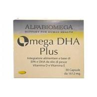 OMEGA DHA PLUS Integratore di DHA 5:1 EPA 30 CPS   ALFABIOMEGA