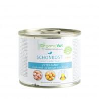SCHONKOST + OKRA 200 g | Cibo umido per GATTI con problemi gastro-intestinali | ORGANIC VET