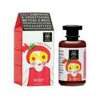 SHAMPOO & CONDITIONER 250 ML | Shampoo e balsamo melograno e miele | APIVITA - Natural Kids