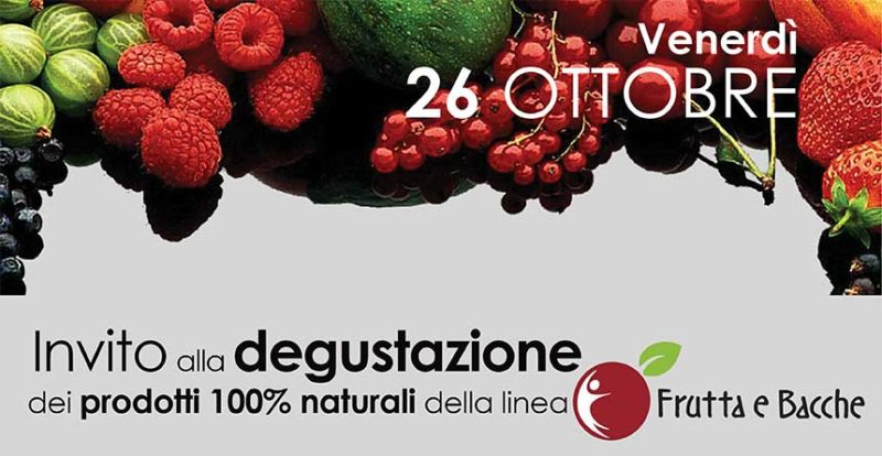 Degustazione 26 ottobre prodotti della linea Frutta e Bacche | Bravi Farmacie Online