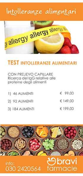 Test intolleranze alimentari | Bravi Farmacie Online