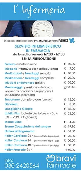 L'Infermeria - servizi in farmacia e a domicilio | Bravi Farmacie